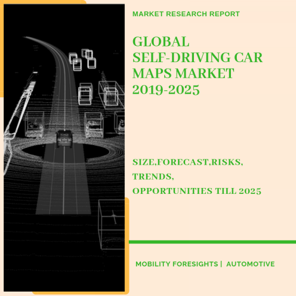 Self-driving car maps market report detailed by geography,application and sourcing type