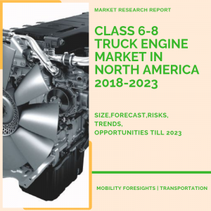 what is the size of class 6-8 truck engine market in north america? what are the trends? risks and growth?