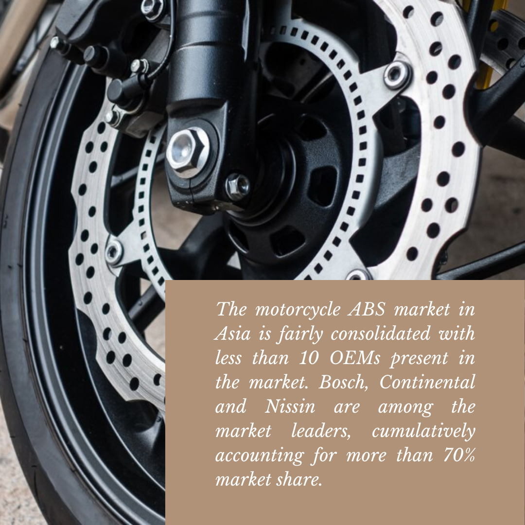 Info Graphic : two wheeler anti-lock braking system market