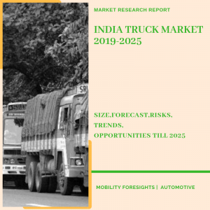 India Truck Market segmented by application, tonnage,geography